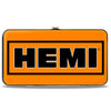 Hinged Wallet - HEMI Bold2 Orange Black White Black