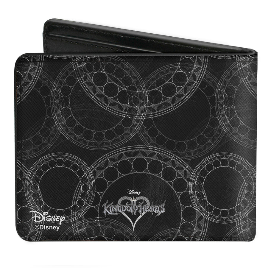 Bi-Fold Wallet - Kingdom Hearts Sora Pose Rings Black Grays