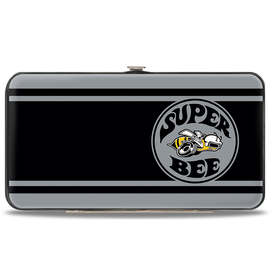 Hinged Wallet - SUPER BEE Logo Stripes Black Gray