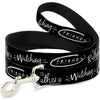 Dog Leash - Friends I'D RATHER BE WATCHING FRIEND THE TELEVISION SERIES Black/White/Multi Color