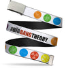Chrome Buckle Web Belt - THE BIG BANG THEORY DNA/Atom/E/Radiation White Webbing
