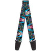 Guitar Strap - Minnie Mouse Hoody & Headphone Poses Gray Multi Color