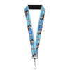 "Lanyard - 1.0"" - Frozen Olaf & Sven Pose Olaf Stitch Blues White Red"