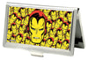 MARVEL COMICS Business Card Holder - SMALL - Iron Man Face CLOSE-UP Stacked FCG