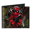 MARVEL DEADPOOL Canvas Bi-Fold Wallet - Deadpool 2012 #5 Revenge of the Gipper Variant Cover Pose Dollar Bills