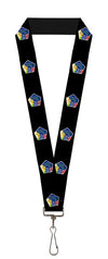 "Lanyard - 1.0"" - INTERNATIONAL SPACE STATION Pentagon Black White Multi Color"