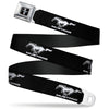 Ford Mustang Emblem Seatbelt Belt - Ford Mustang Black/White Logo REPEAT Webbing