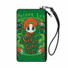 Canvas Zipper Wallet - SMALL - Chibi POISON IVY AND THE SIRENS OF GOTHAM CITY Ivy Greens