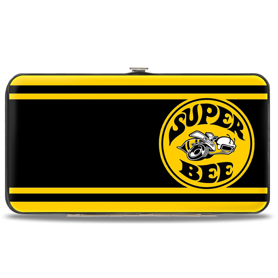 Hinged Wallet - SUPER BEE Logo Stripes Black Yellow