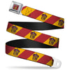 GRYFFINDOR Crest Full Color Red Seatbelt Belt - GRYFFINDOR Crest Diagonal Stripe Gold/Red Webbing