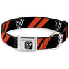 Dodge Demon Icon Full Color Black/White Seatbelt Buckle Collar - Dodge Stripes/Demon Icon Black/Red/White