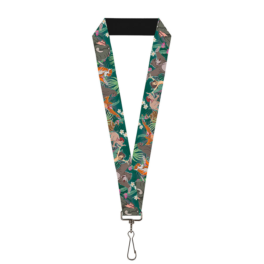 "Lanyard - 1.0"" - The Jungle Book 8-Character Group Greens"