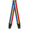 Guitar Strap - Wonder Woman Stripe Stars Red Gold Blue White