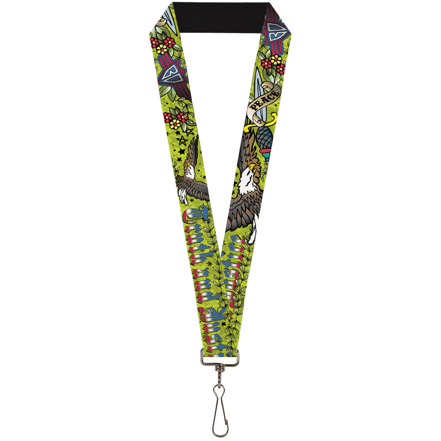 "Lanyard - 1.0"" - Truth and Justice Green"
