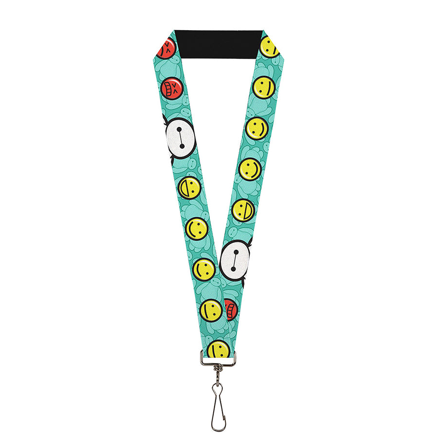 "Lanyard - 1.0"" - Baymax Mood Expressions Baymax Scattered Turquoise"