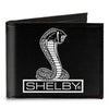 Canvas Bi-Fold Wallet - SHELBY Tiffany Box Black White