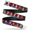 Descendants Apple Full Color Black Red Gold Seatbelt Belt - Descendants 11-Character Group Pose Reds/Gray Webbing