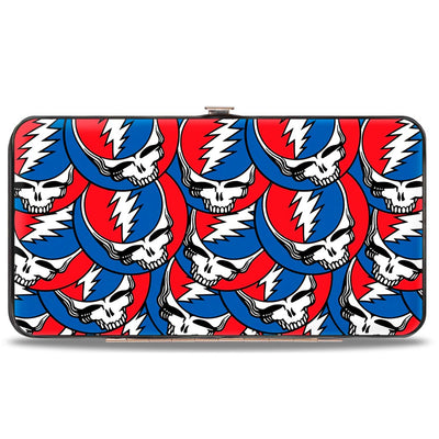 Hinged Wallet - Steal Your Face Stacked Red White Blue