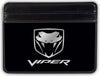 Weekend Wallet - Dodge VIPER Logo Black Silver