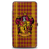 Hinged Wallet - GRYFFINDOR Crest Stripes Diamonds Red Golds