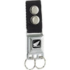 Keychain - HONDA Motorcycle Full Color Black White - Black Webbing