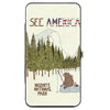 Hinged Wallet - SEE AMERICA-YOSEMITE NATIONAL PARK Fishing Bear Scene2