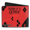 Bi-Fold Wallet - Harley Quinn Issue #20 LA Baseball Cover Pose Diamonds Black Red