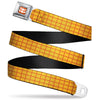 Toy Story Woody Cowboy Buckle Logo Full Color Orange/White Seatbelt Belt - Toy Story Woody Bounding Plaid Shirt Gold/Red Webbing