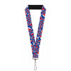 "Lanyard - 1.0"" - Steal Your Face Stacked Red White Blue"