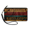 Canvas Zipper Wallet - SMALL - GRYFFINDOR & HUFFLEPUFF Burnt Banners