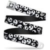 Jack Expression9 Full Color Seatbelt Belt - NBC Jack Expressions Scattered Black/White Webbing