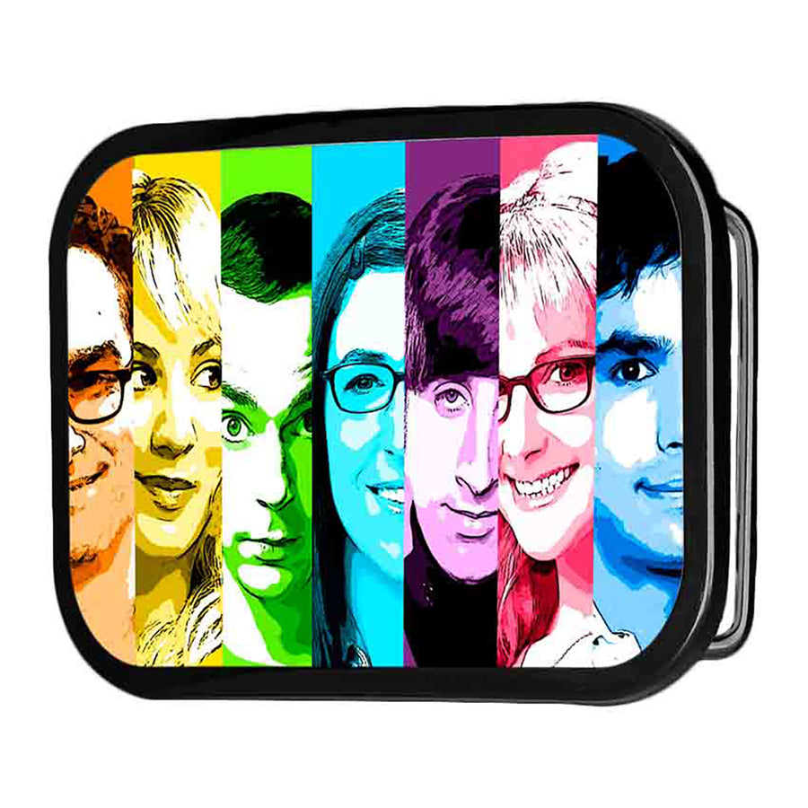 The Big Bang Theory Characters Panels FCG Multi Color - Black Rock Star Buckle