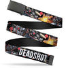 Black Buckle Web Belt - DEADSHOT Face/Pose/Targets/Bullets Webbing