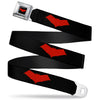 Red Hood Logo Full Color Black Red Seatbelt Belt - Red Hood Logo Black/Red Webbing