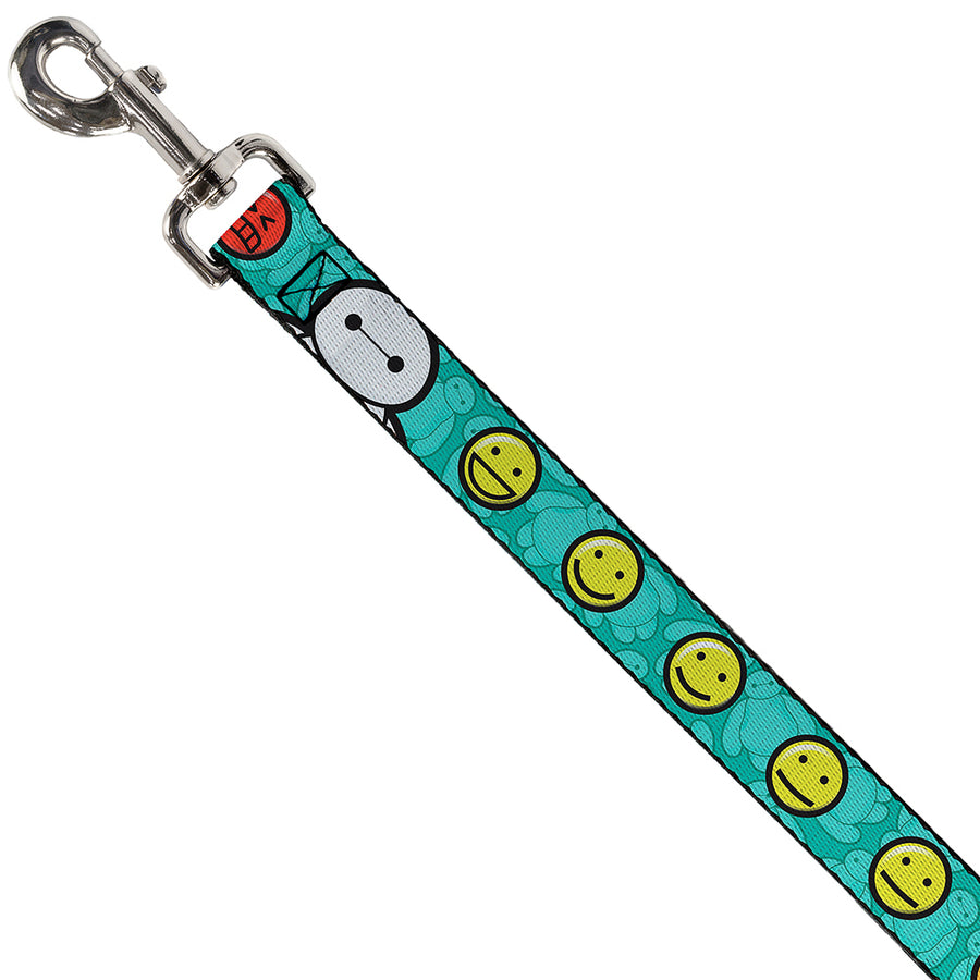 Dog Leash - Baymax/Mood Expressions/Baymax Scattered Turquoise
