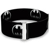 Cinch Waist Belt - Bat Signal-4 Black Silver Fade