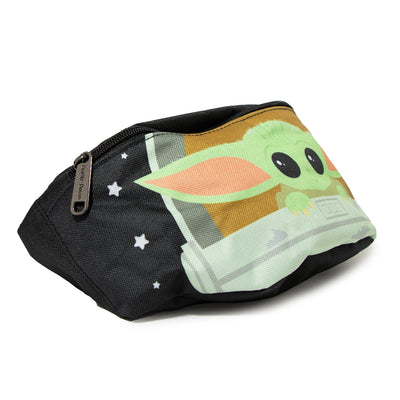 Fanny Pack - Star Wars The Child Chibi Carriage Pod Pose Stars Black White