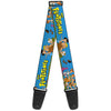 Guitar Strap - The Flintstones and Rubbles Group Pose Logo Blue