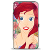 Hinged Wallet - Ariel Fixing Hair Pose + Tropical Flowers Blues Pinks