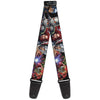 MARVEL AVENGERS Guitar Strap - 7-Vivid Avengers Action Poses