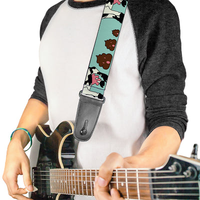 Guitar Strap - Cow Poops Color