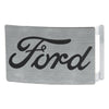 Ford Script Rock Star Buckle - Brushed Silver Black