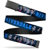 Black Buckle Web Belt - RIVERDALE 7-Character Group Pose Blues Webbing
