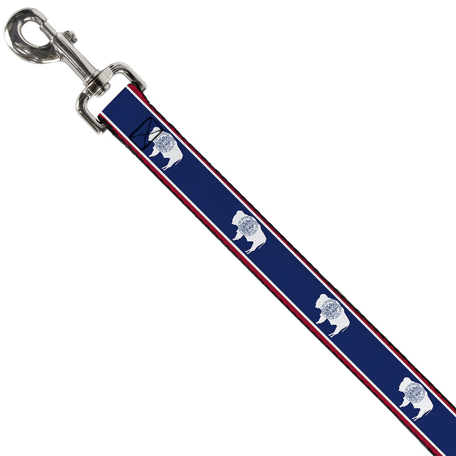 Dog Leash - Wyoming Flags