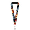 "Lanyard - 1.0"" - DC Comics Trinity Group-Batman Wonder Woman Superman Pose Logos"