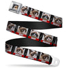Grumpy Cat Face Full Color Black Seatbelt Belt - Grumpy Cat Bad Mood Blocks Webbing