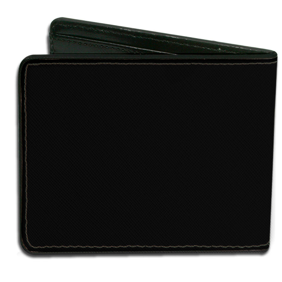 Bi-Fold Wallet - Supernatural THE WINCHESTER BROS Impala Pentagrams Scattered Black Grays White