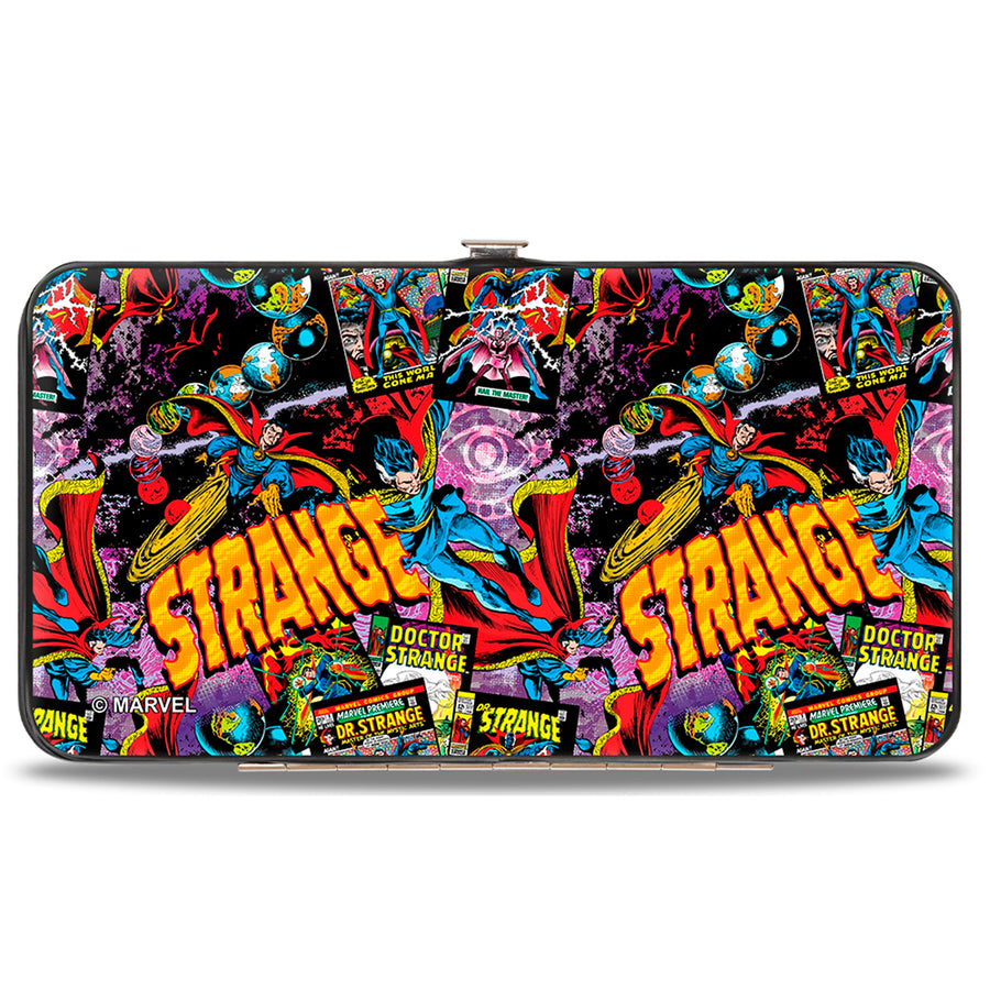 MARVEL COMICS Hinged Wallet - Classic Doctor Strange Poses Comic Books STRANGE Eye of Agamotto