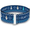 Cinch Waist Belt - Olaf Snowflakes Stitch Blues White