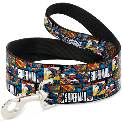 Dog Leash - SUPERMAN Action Blocks White